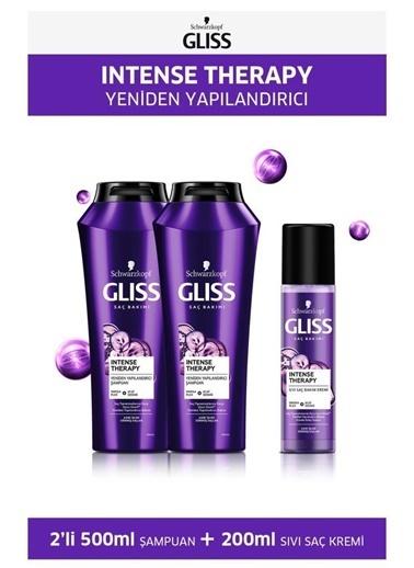 Gliss Gliss Intense Therapy Şampuan 500 Ml X 2 Adet + Sıvı Saç Kremi 200 Ml Renksiz